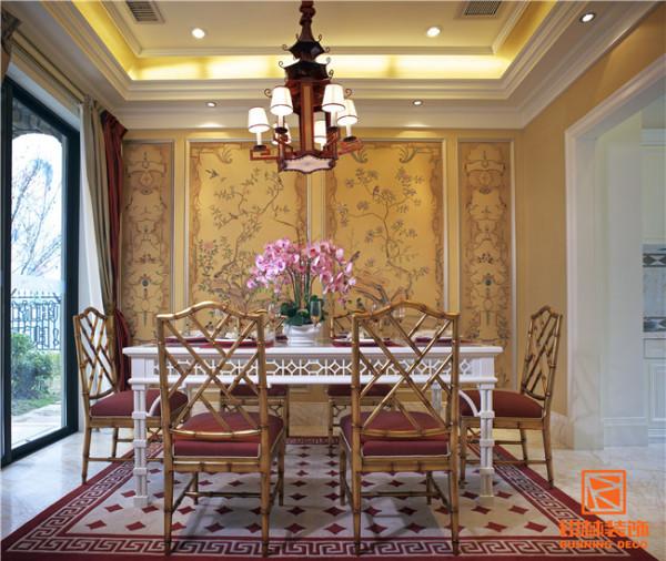 天津别墅室内装修实景图-餐厅