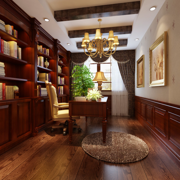 书房是学习的地方也是最有文化气质的地方,书房装修要以文化弄的物件来装饰。