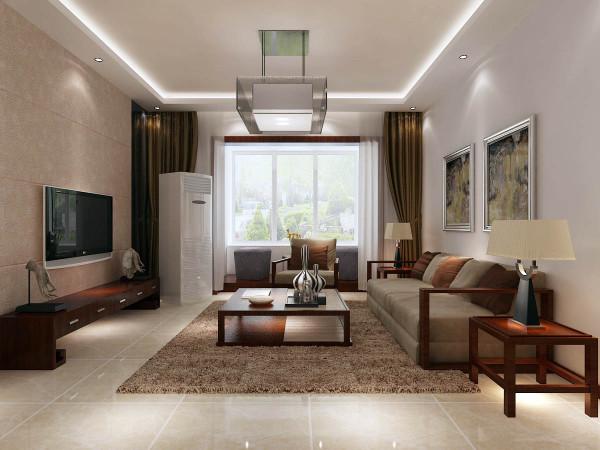 本案例采取简约风格。简约而不简单客厅是整个家居布置中的重点,设计师在做这一设计时充分考虑到室内与室外空间的交流简单而适用地面拼花把会客区与就餐区和谐的区分开来