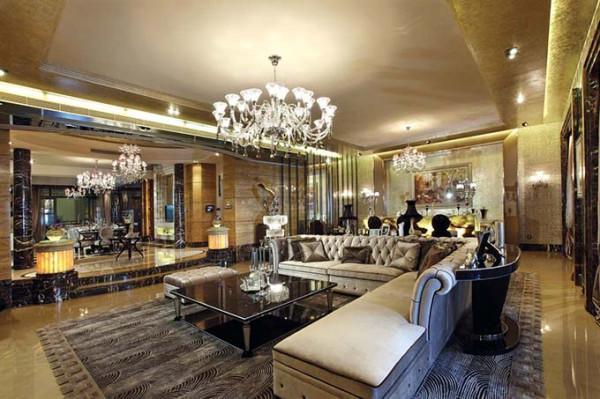 这类风格的装修,在面积、空间较大的房间内会达到更好的效果。