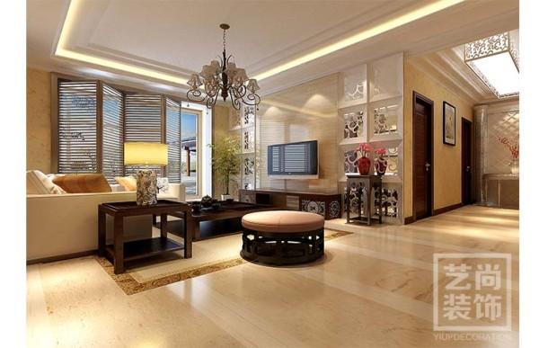 龙湖锦艺城136平方三室两厅装修效果图