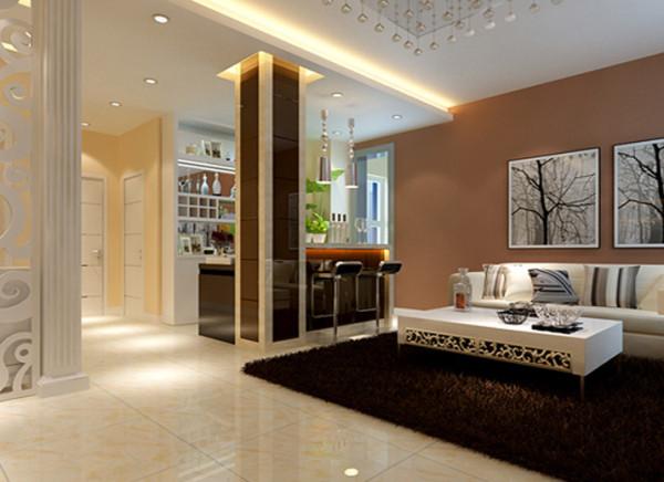 自在互动的叙餐浪漫 设计理念:由吧台向内延伸的白色厨房区,外观整合了洗炼的现代化的层次变化,巧妙的达成了餐厅和厨房的地域划分。