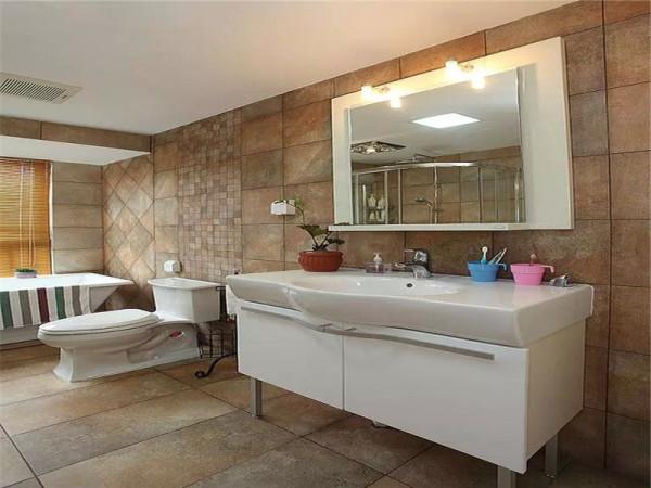 美式浴室。