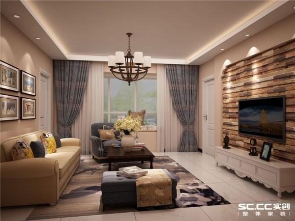 设计 理念设计理念:用石膏板结合定制防腐地板搭配做电视墙,饱满时尚,墙面颜色采用浅咖色使整个空间相得益彰,个中有个,犹如俩人的爱情一样和谐美满。