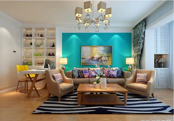沙发背景墙装修效果图 实创装饰沈阳
