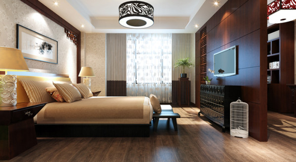 威尼斯花园别墅-280平户型现代风客卧效果图
