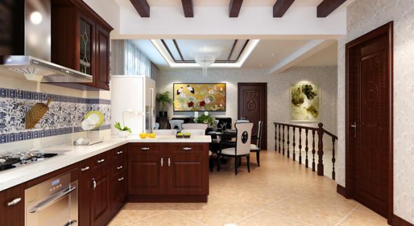 威尼斯花园别墅-280平户型二楼餐厅效果图
