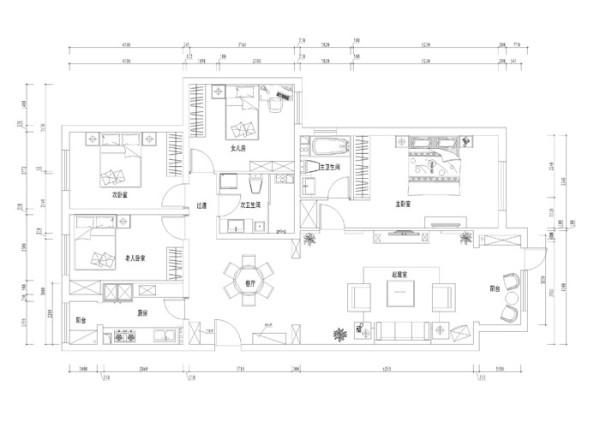 天天家园--150平复式户型平面布局图
