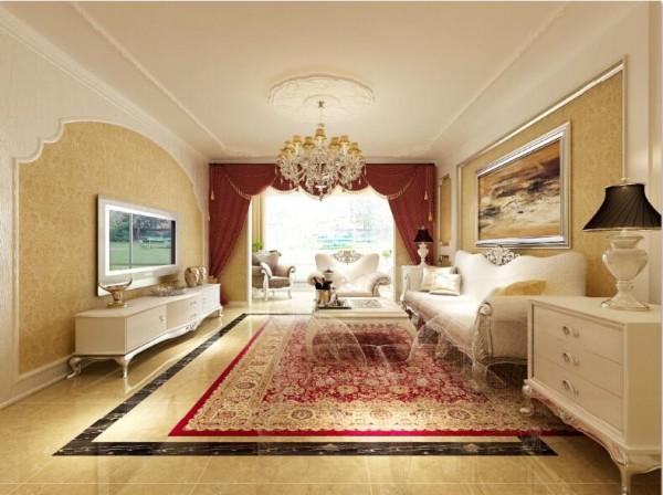 墙面颜色以米黄色的欧式大花形式来体现显得温馨舒适
