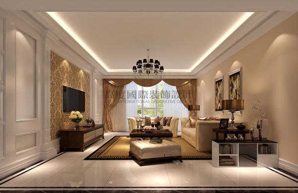 简约欧式装修 三室两厅装修效果图