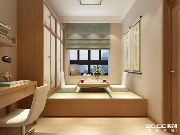 现代简约卧室装修 榻榻米