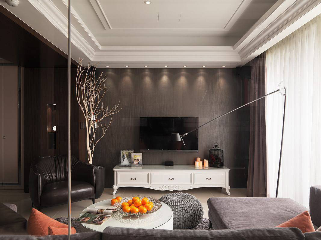 博欣盛世80平米现代简约客厅装修效果图