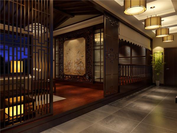 会客厅:墙上挂一幅中国画。