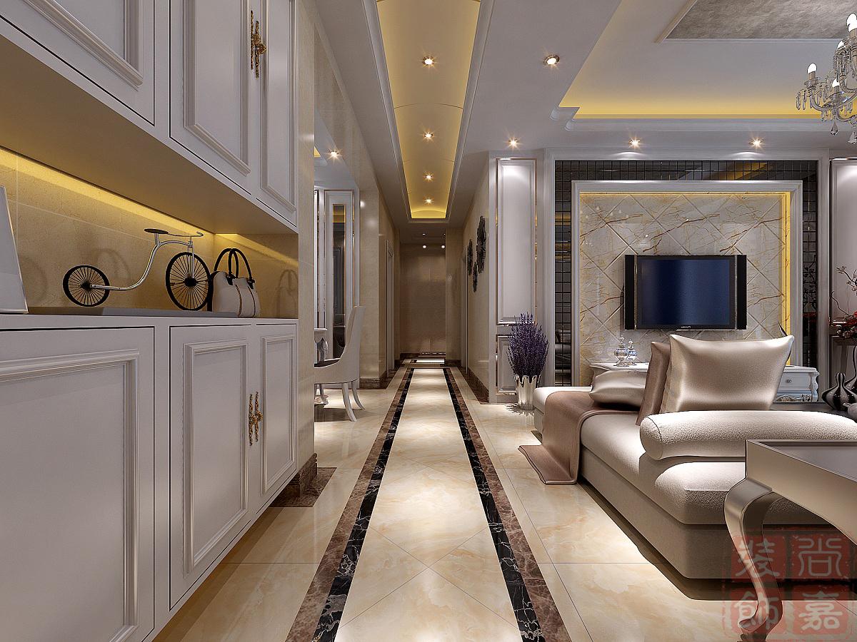客厅走廊7字型波导线