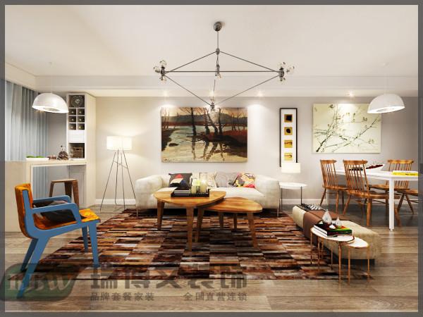 沙发背景的角度,色彩搭配十分舒适。整个大厅四周做了一圈条形吊顶,仔细观察射灯的位置,我不是按距离平均值安置射灯的,而是根据位置安置的。其实真整装修的时候完全可以这样做的,美观效果不是也不错的吗。