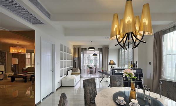 客厅 不是每个客厅都需要一面华丽丽、浓装艳抹的电视墙,干干净净,融入大空间的电视墙,更加大气 客厅的家俱,是精心混搭而来的。