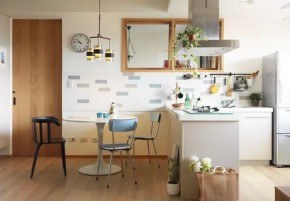 一居 北欧 简约 宜家 旧房改造 80后 客厅 卧室 餐厅 餐厅图片来自实创装饰晶晶在50㎡的公寓让女神装成了这样的分享