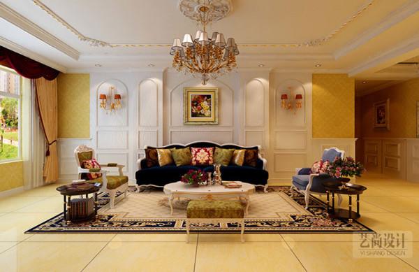 升龙又一城三室两厅130平方装修方案-客厅装修效果图