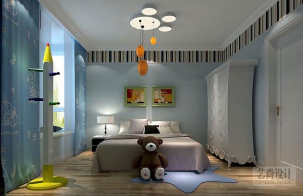 升龙又一城3室2厅现代简约装修效果图-卧室装修样板间