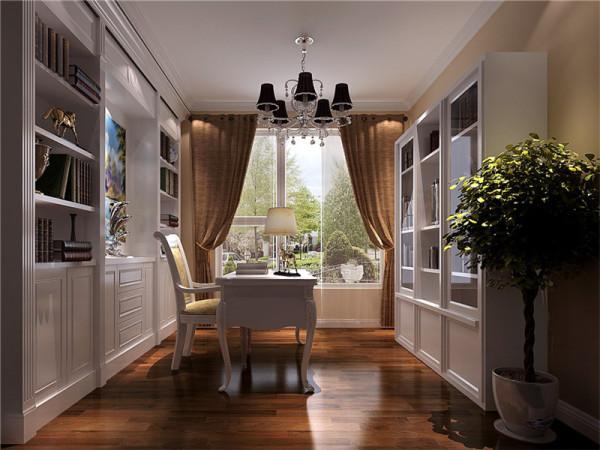 安静是书房中最不能缺的元素,因此书房在设计的同时,颜色和光线是最重要的。