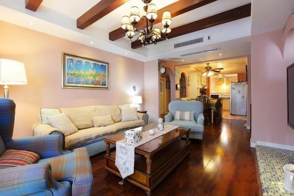 本案设计风格美式休闲风,没有选择浮夸的颜色,纯色的家具、纯色的墙面,定位于一种明曦、清爽、温馨又干干净净的感觉