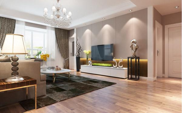 橄榄城伍号院-140平暖暖的温暖三居室装修-设计案例-效果图