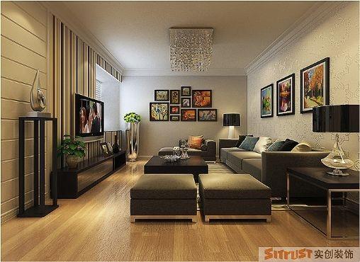 东方鼎盛御府-两居室-简约温馨装修-设计案例-效果图