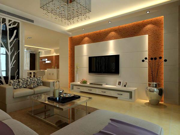 电视墙采用硅藻泥和石膏板做的造型,考虑家里客厅是大家在一起最长时间的,所以电视墙颜色不宜过多,以免视觉疲劳,
