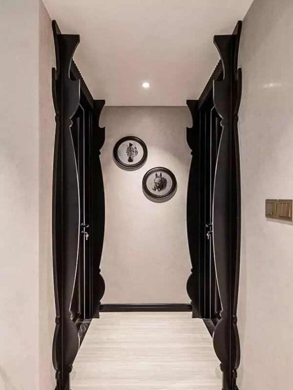 走廊,门框的装饰造型。