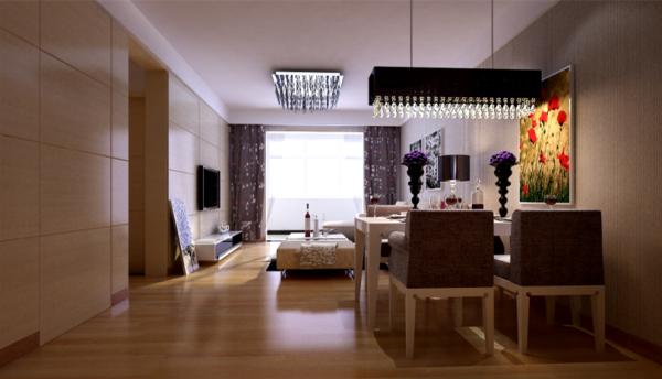 绿地海铂兰轩 89平两居室 现代简约风格装修 设计案例 效果图