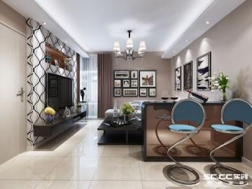 鑫苑鑫城76平两居室简约设计图