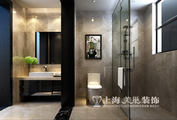 永威五月花城装修127平三室两厅居室户型布局设计效果图——卫浴设计