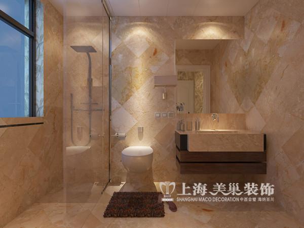 贰号城邦四居室简约美式装修80平二合一案例效果图——卫浴设施