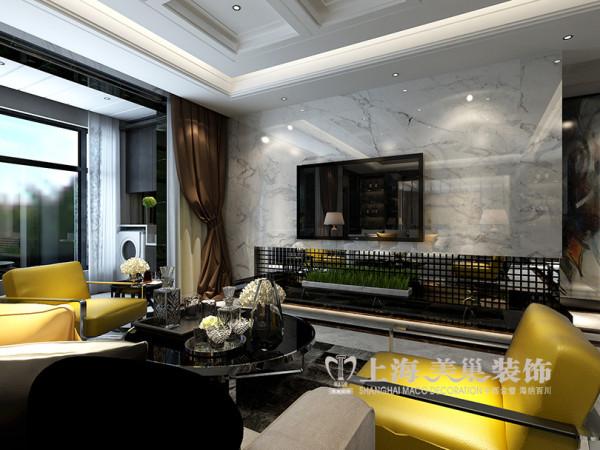 郑州紫荆尚都装修设计案例效果图赏析现代奢华布局——电视背景墙设计