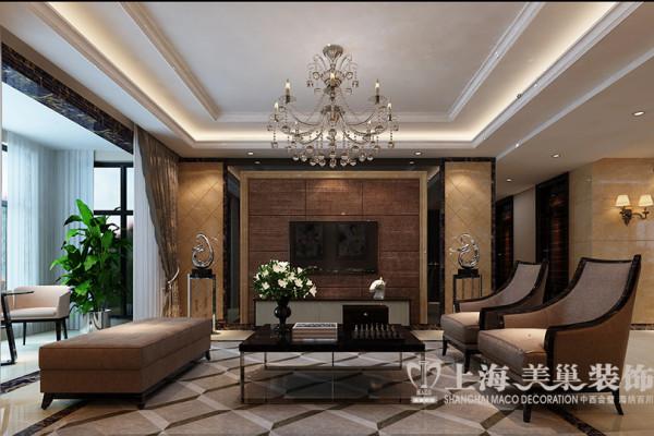 郑州警察学院家属院四居室180平装修现代风格效果图——电视背景墙