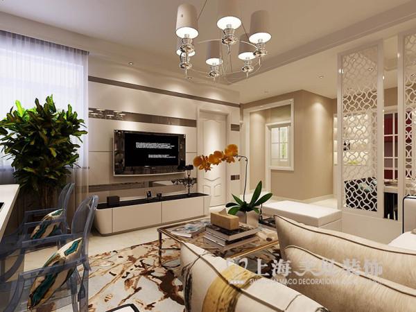 郑州金域上郡2室2厅89平居室设计案例效果图赏析——简约风格设计电视背景墙布局