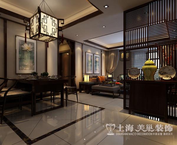 郡临天下3室2厅新中式风格装修案例143平效果图——玄关效果图