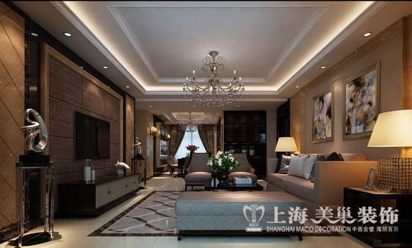 警察学院家属院4室2厅现代装修四室两厅样板间效果图——客厅全景布局