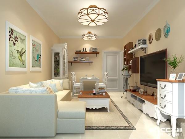 客厅以灰,灰、白、黄为基调,并未设置累赘复杂的造型,体现了主人的内蕴品性。
