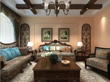 观山湖壹号四室古典美式风格案例
