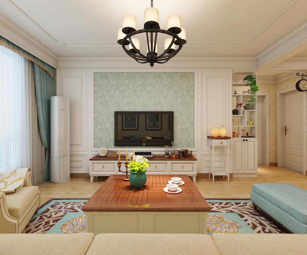 客厅的家具选择具有简美装修设计风格元素的板式家具.图片