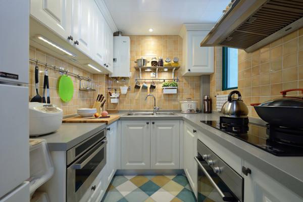 简约美式厨房装修效果图片_装修美图-新浪装修家居网