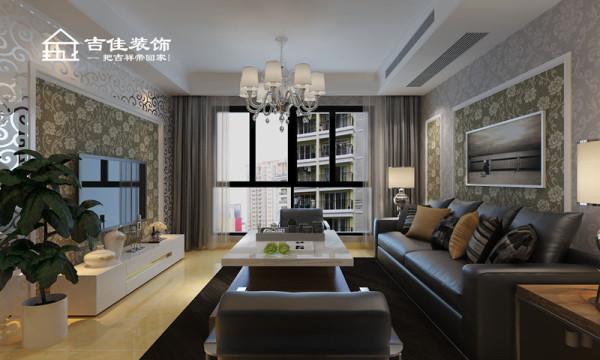 案例设计中,在线条上力求简洁优雅,素净调调的墙纸满屋铺贴与白色的墙顶形成反差美,使整个空间保留华丽视觉感受的同时又及时回复现实所需的简单宁静。
