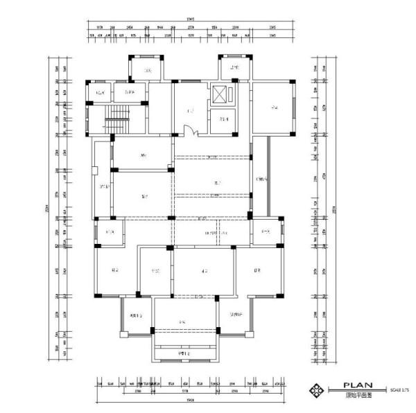 生活家装饰--半岛一号320平米现代风格装修户型图
