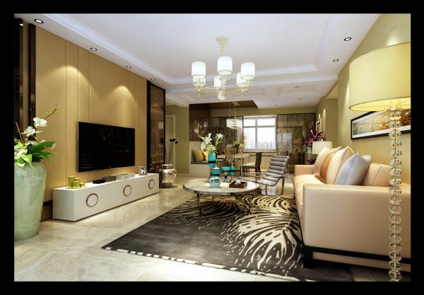 龙发装饰两居室现代风格客厅设计装修效果图