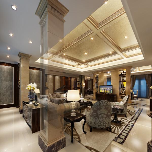 生活家装饰--半岛一号320平米现代风格客厅装修效果图       设计理念:客厅设计中选择了暖色和亮色的搭配,既是最传统、最具备古典高贵气质的配色,又是最流行、最时尚的撞色,造就了空间的视觉美感。