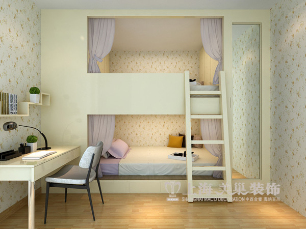 香樟公馆装修样板间效果图——儿童房布置
