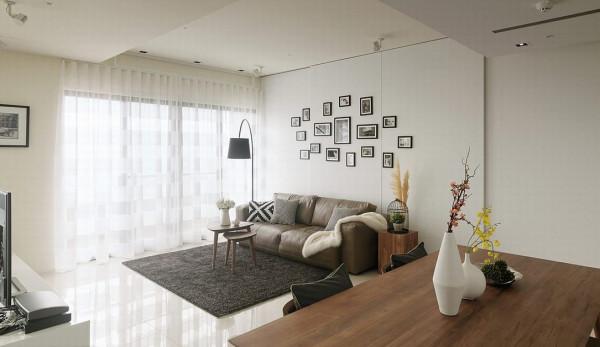 无阻碍的开放式设计,引入一室日光纯净