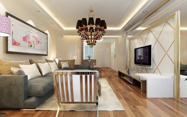 客厅整体设计效果。