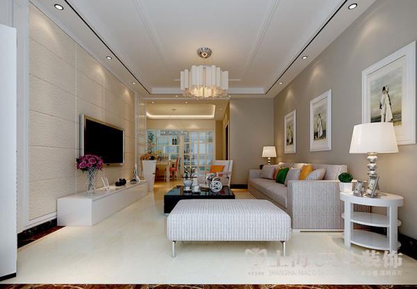 商丘上东一品3室2厅现代简约装修127平样板间案例——客餐厅布局